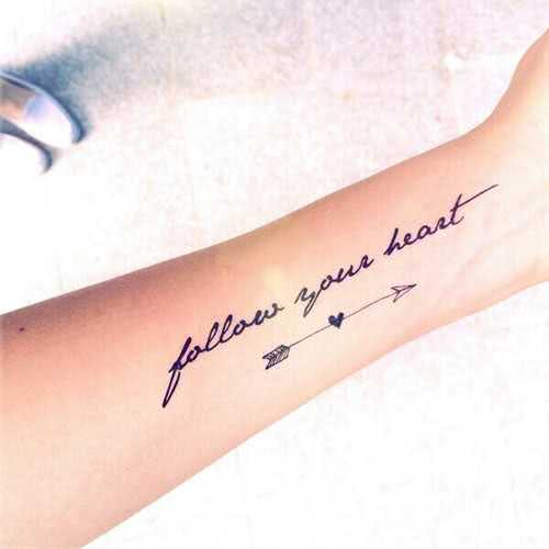 Tattoo Follow your Heart