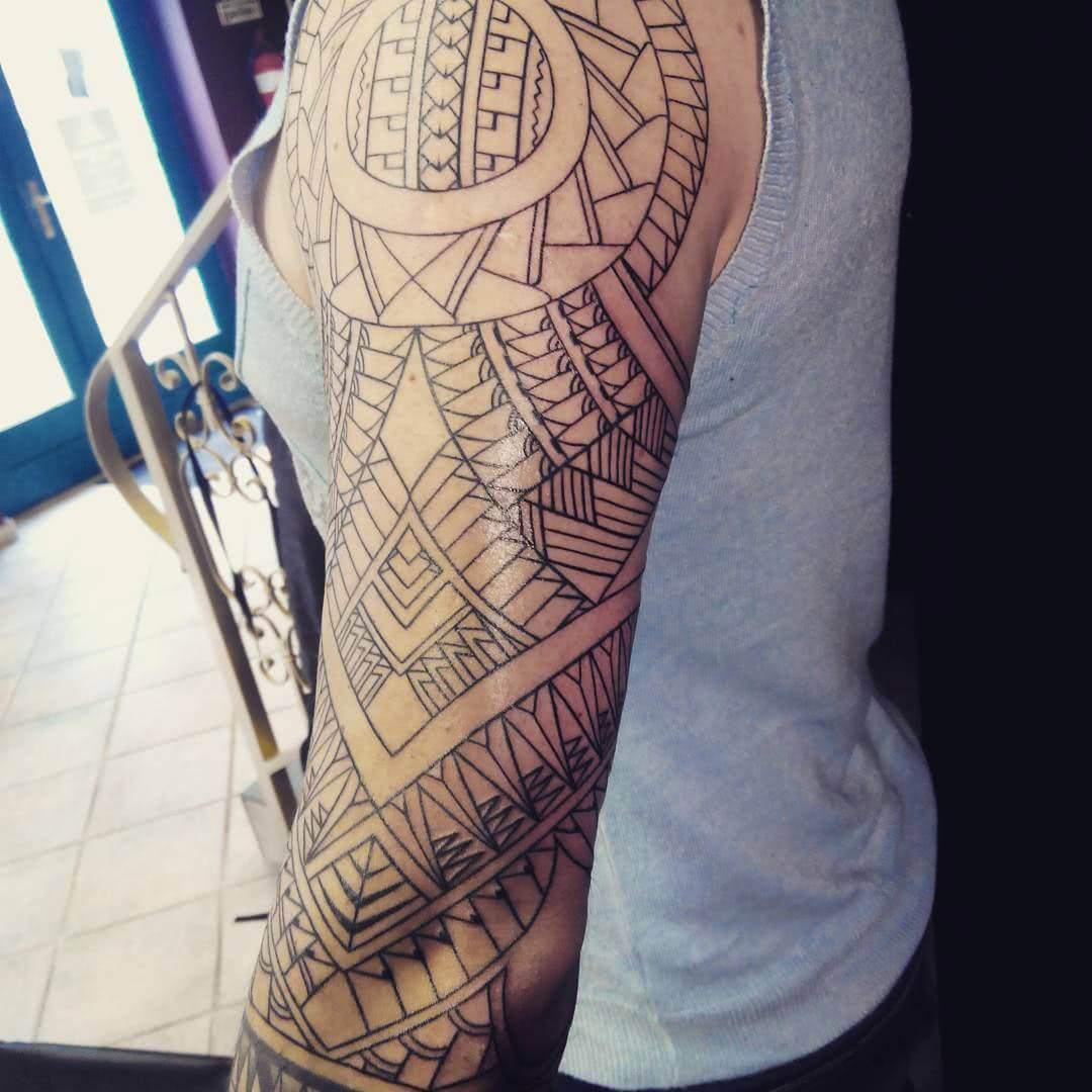 Tattoo Freehand Tribal Sleeve