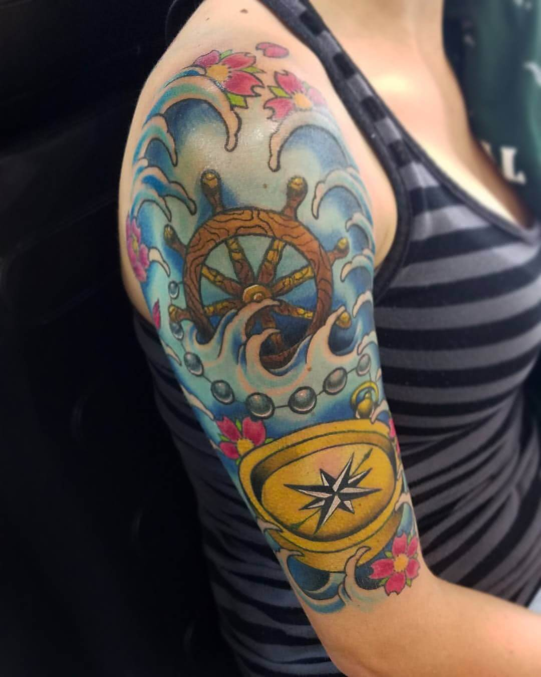 Tattoo Halfsleeve Oldschool Nautic Maritim