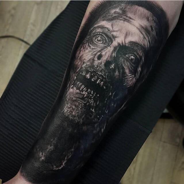 Tattoo Horror Gesicht