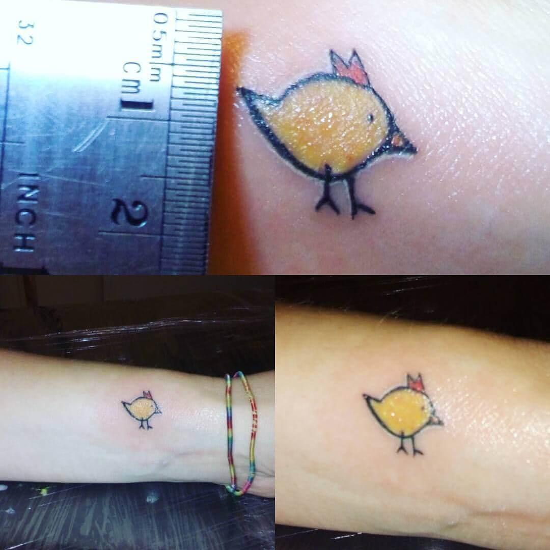 Tattoo Kleines Küken auf dem Arm