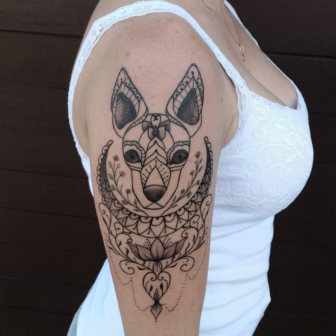 Tattoo Linework Hund ♡