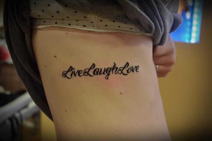 Tattoo Live Laugh Love