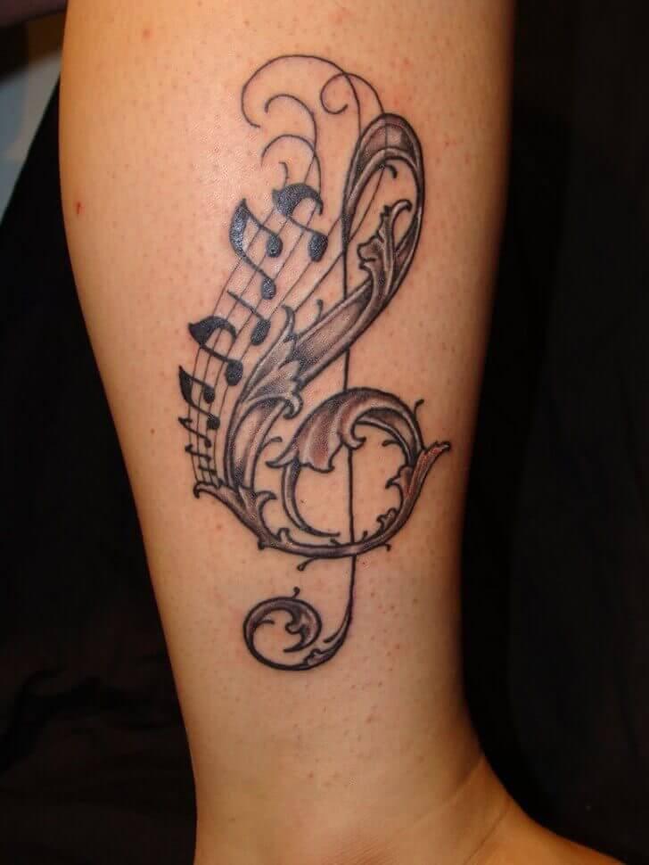 Tattoo Notenschlüssel