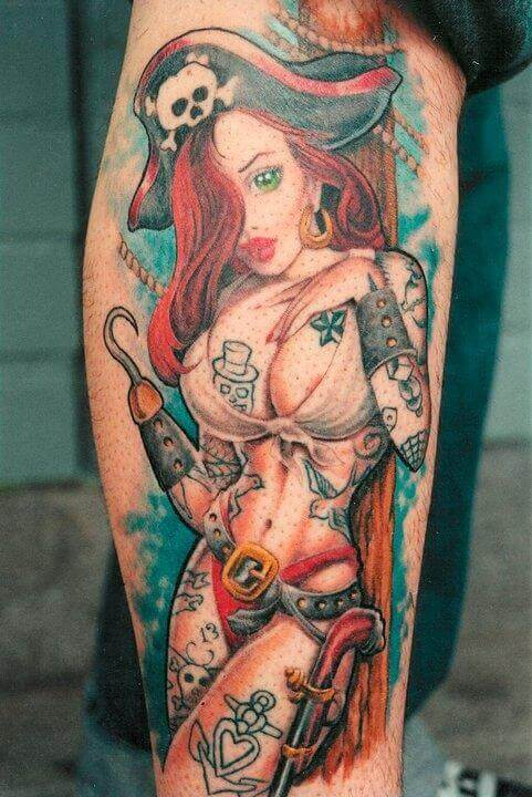 Tattoo Pinup Piraten Girl