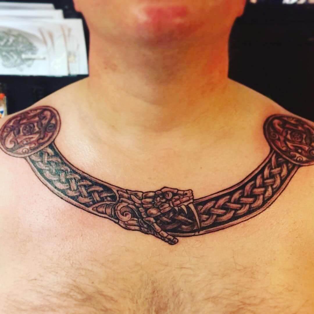 Tattoo Wikinger Chest Piece