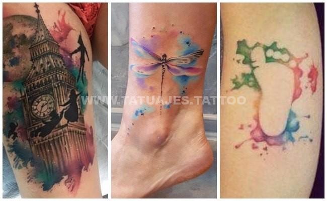 50 Ideas De Tatuajes De Acuarela Foto Y Significado