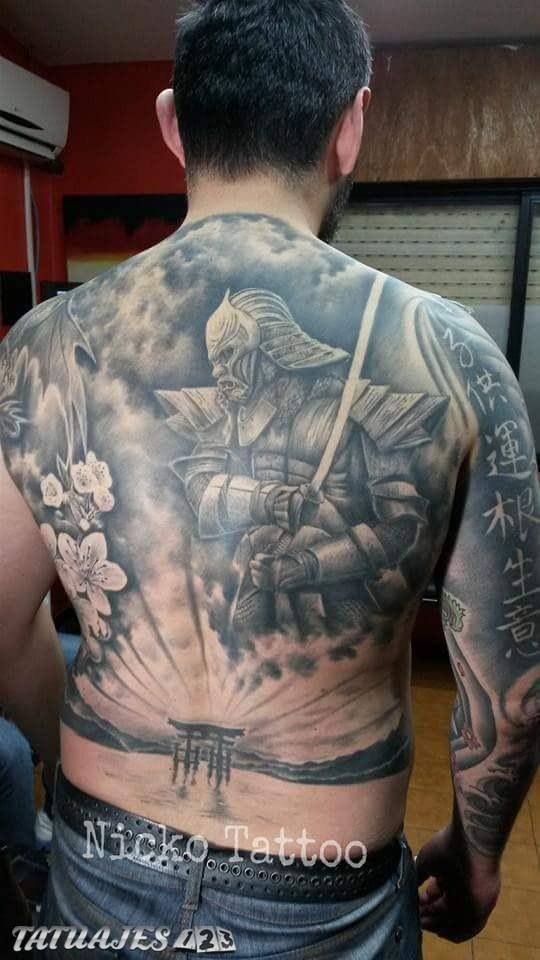 Espalda Con Diseños Orientales Tatuajes 123