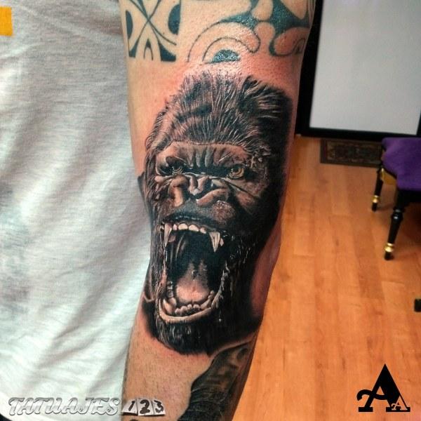Gorila 3d Tatuajes 123