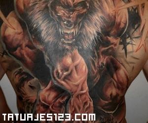 Hombres Lobo Tatuajes 123