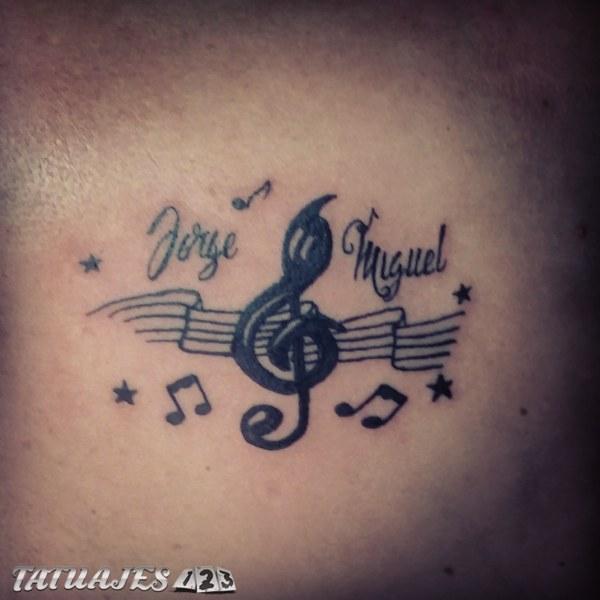 Musica Y Los Nombres De Los Hijos Tatuajes 123