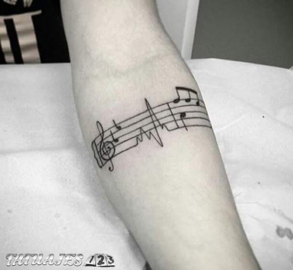 Notas Musicales En El Brazo Tatuajes 123