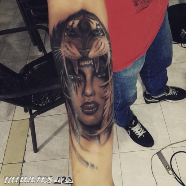 Realismo En Sombras Tatuajes 123
