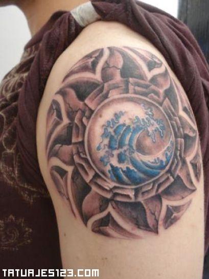 Sol Maya En El Hombro Tatuajes 123
