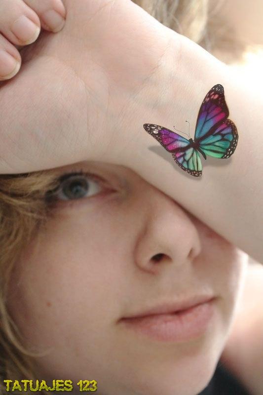 Tatuaje De Mariposa 3d Tatuajes 123