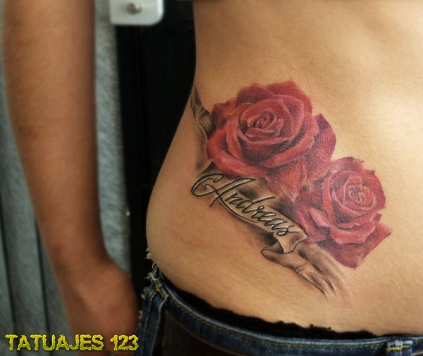 Dos Rosas Y Un Nombre Tatuajes 123