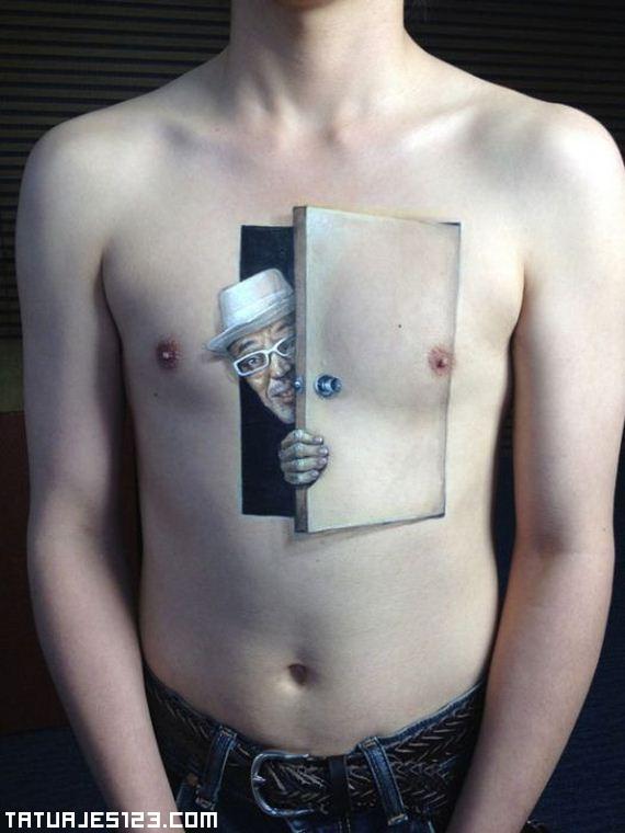 Una Puerta En El Pecho Tatuajes 123