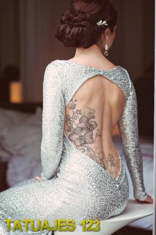Tatuaje Floral En La Espalda Tatuajes 123