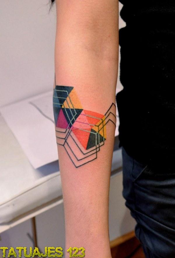 Tatuaje Geométrico En El Brazo Tatuajes 123