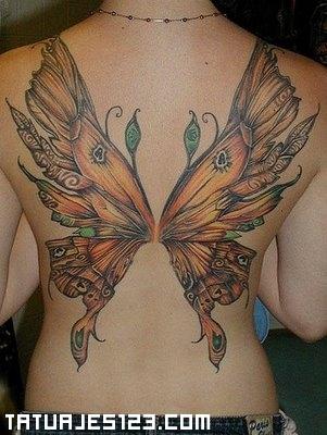 Mariposa En La Espalda Tatuajes 123