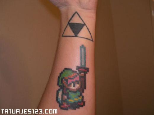 Zelda Con Su Espada En La Mano Tatuajes 123