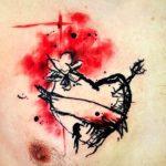 Tatuajes De Corazones Rotos En El Cuello