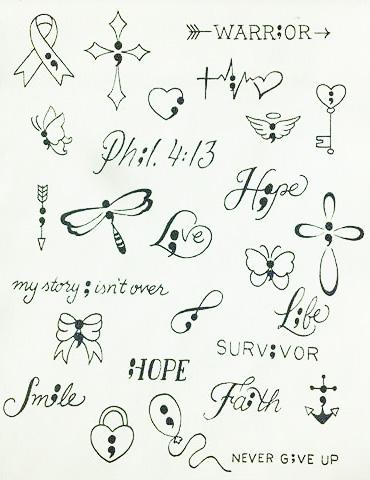 Qué Significado Tienen Los Tatuajes De Punto Y Coma Tatuajes