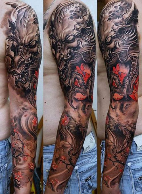 76 Ideas De Tatuajes De Dragones Y Sus Significados Top 2019