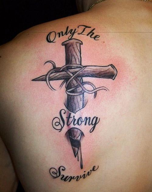 Tatuajes De Cruz En El Cuello Para Mujeres