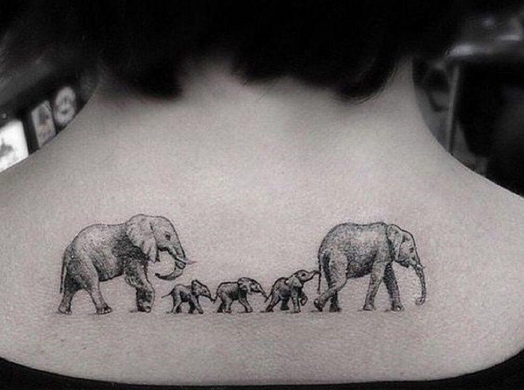 Imagenes De Tatuajes De Familia De Elefantes