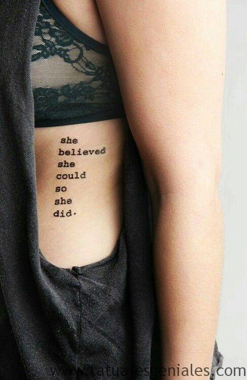 Tatuajes En Las Costillas Para Hombres Frases En Español Gastatuajes