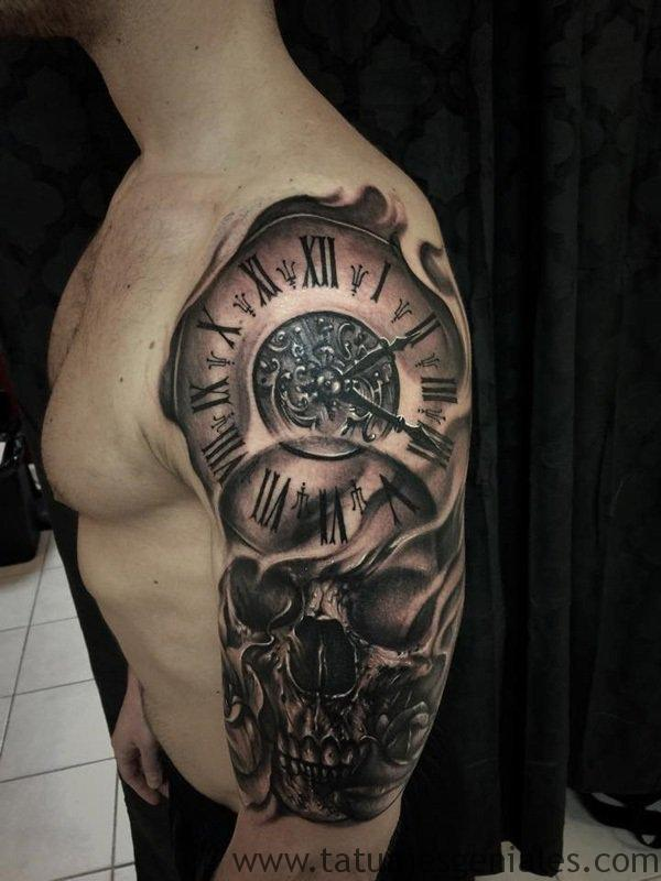 60 Ideas Exclusivas De Tatuajes De Relojes Y Sus Tipos 2019