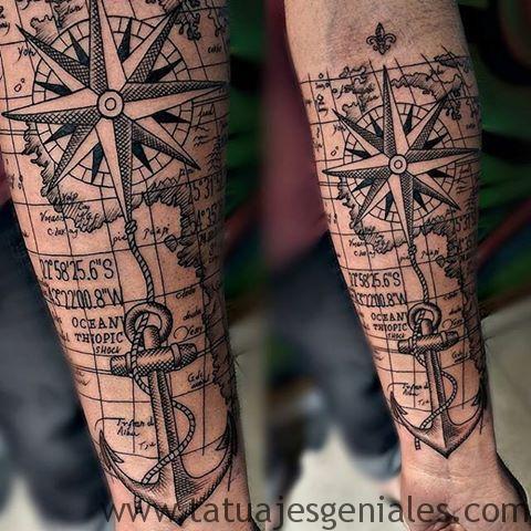 70 Imágenes De Tatuajes De Brújulas Con Significados Tatuajes