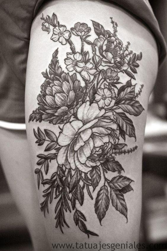 60 Especiales Tatuajes En La Pierna Y En El Muslo Tatuajes Geniales
