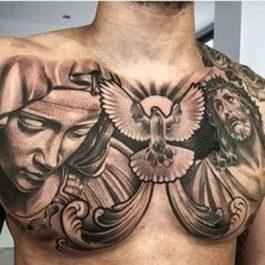 58 Geniales Ideas De Tatuajes En El Pecho Hombresmujeres