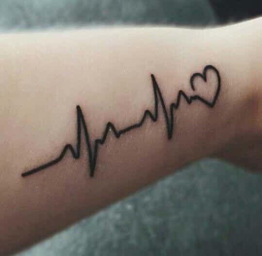 Ideas para Tatuajes Lnea de la Vida y Signos Vitales  Tatuajes Geniales