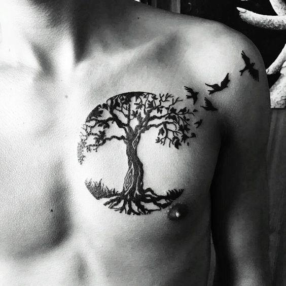 68 Ideas Para Tatuajes De árbol De La Vida Y Sus Significados