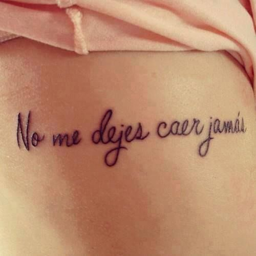 Frase: No Me Dejes Caer Jamás