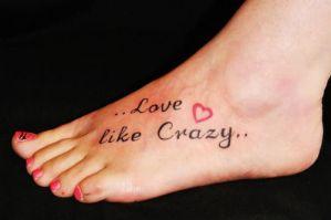 Frase: Love like crazy & Corazón