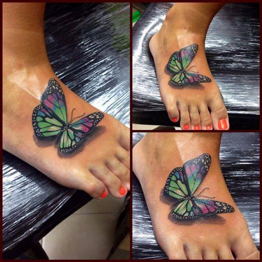Mariposa 3d Tatuajes Para Mujeres