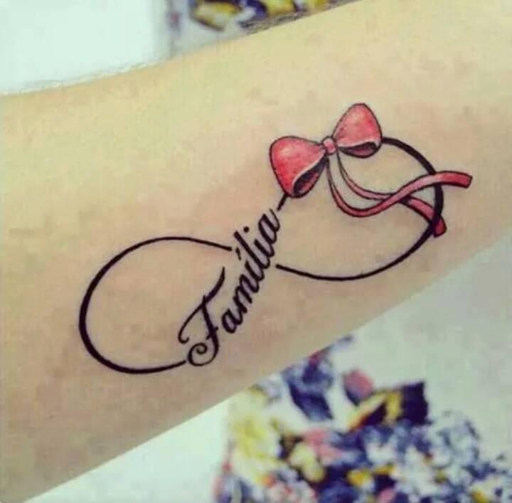 Infinito Lazo Frase Familia Tatuajes Para Mujeres