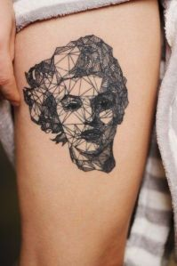 Marilyn Monroe Cara Geométrica