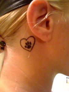 Corazón con Huella de Mascota