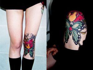 Frase: One Heart, Mariposa y Flor