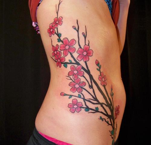 Flores De Cerezo Tatuajes Para Mujeres