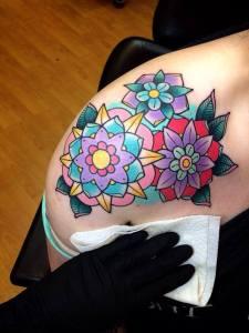 Flores estilo Mandalas by Alex Strangler