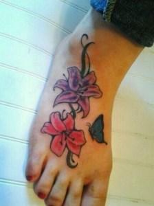 Flores Lilium & Mariposa