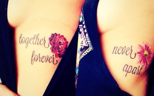 Frase: Together Forever – Never Apart & Flores