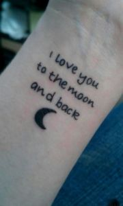 Frase: I love you to the moon and back