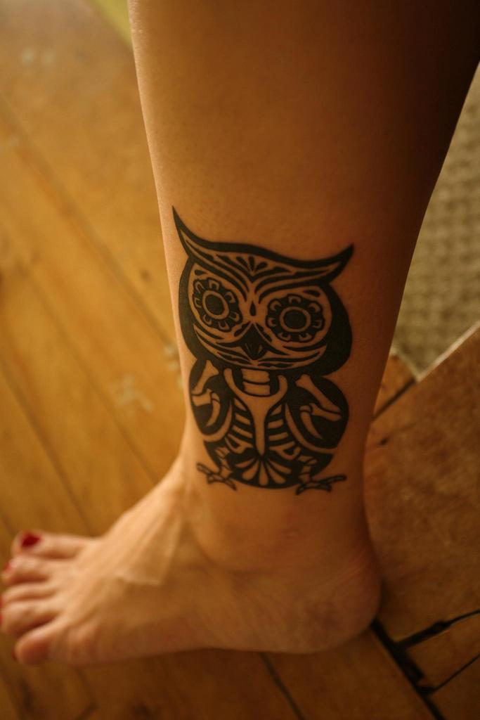 Lechuza Tribal Tatuajes Para Mujeres
